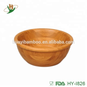 Non-toxic unique bamboo salad bowls with decorative design
