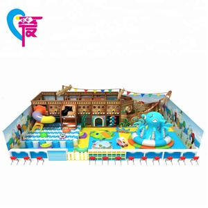 A-15343 Attractive and Novelty Blue Sea World Children Indoor Playground Equipment For Kids