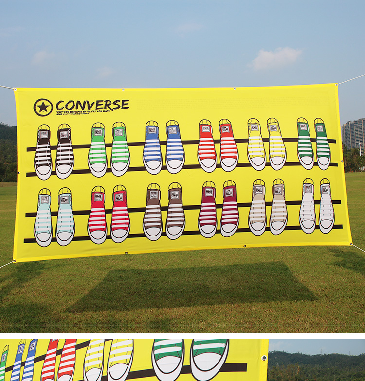 Custom Design polyester banner printing outdoor wall advertising banner
