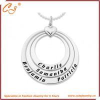 925 Silver Message Necklace, Name Necklace Dropshipping from Cute Jewelry