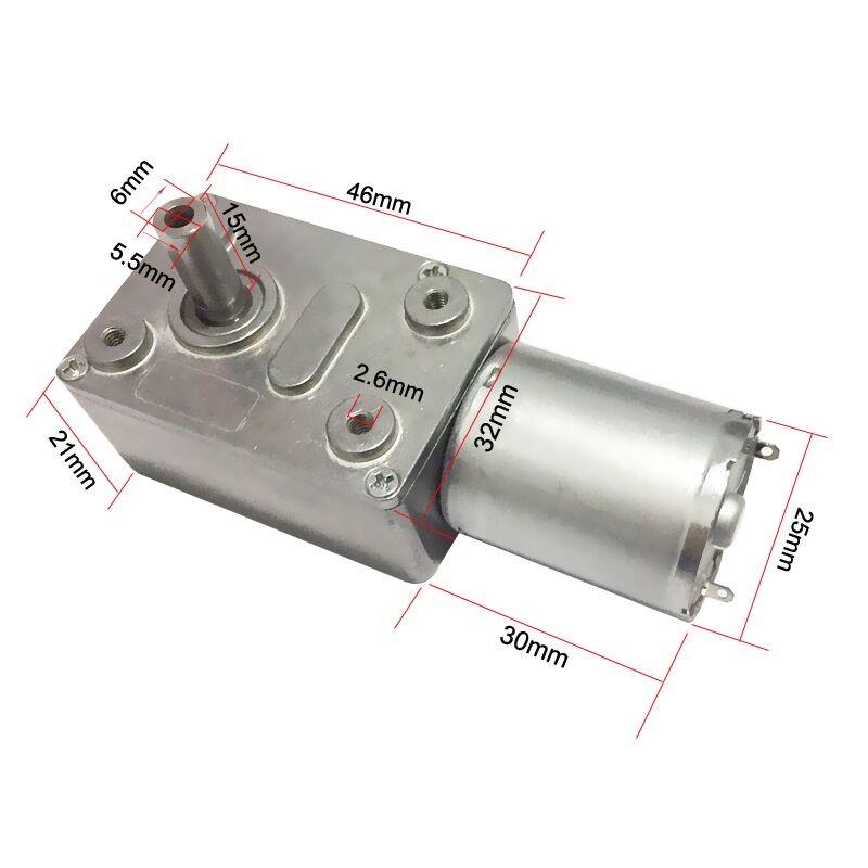 Bringsmart jgy370 12 volt 40rpm dc worm gear motor 12v for 12 volt gear motor