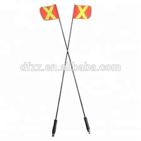 6ft/7ft/8ft/9ft/10ft Non-lighting ATV offroad Flagpole with Reflective Flag Quick release mount