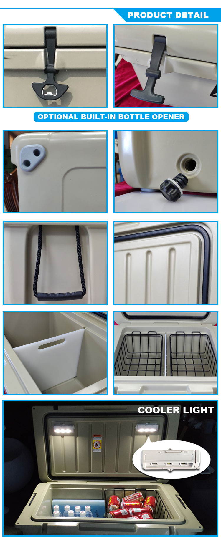 Small size commercial fishing boats fiberglass cooler box