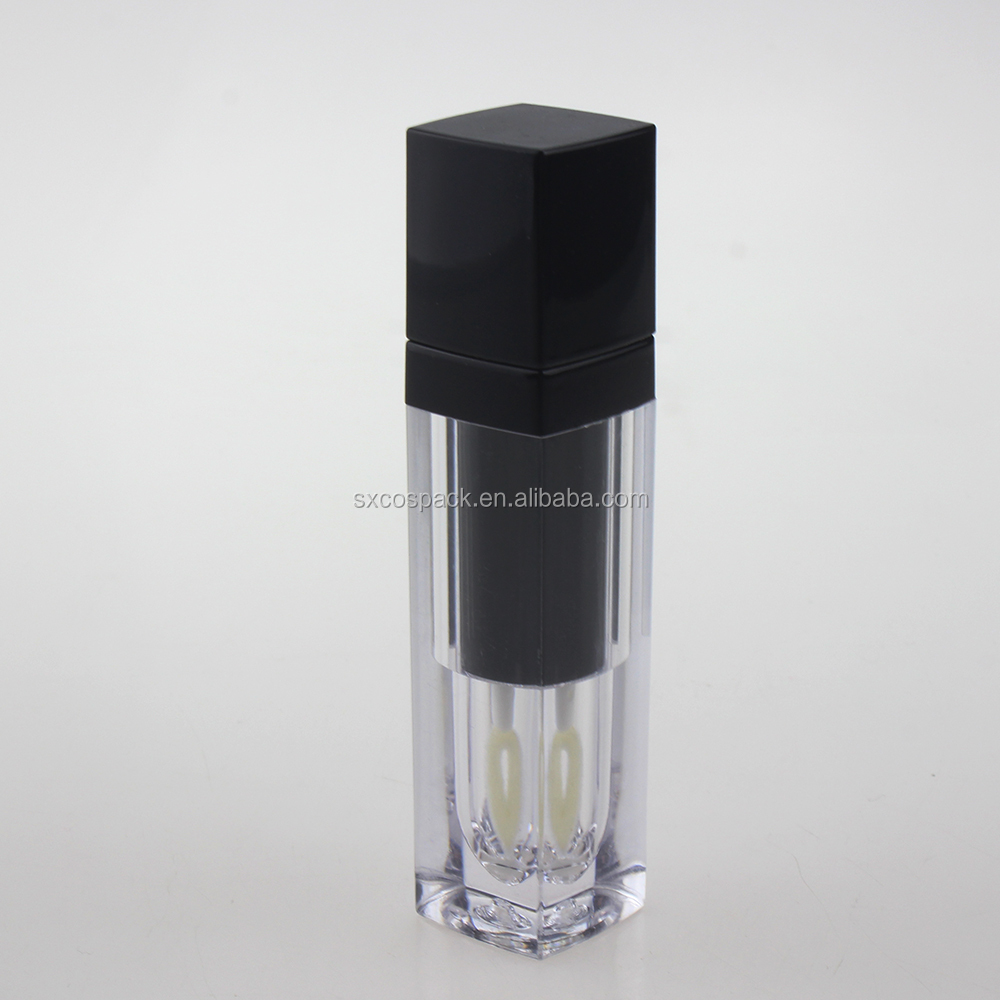 transparent black 5ml DIY lip gloss <strong>tube</strong> with screw brush, empty liquid lipstick <strong>tube</strong>