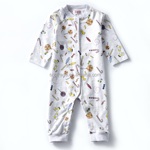 Import Toddler Jumpsuit Long Sleeve Printing Romper Baby Clothes