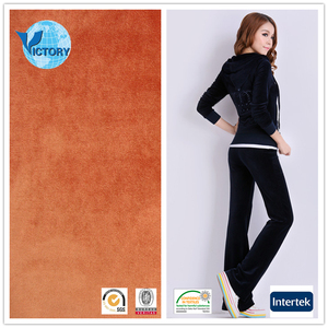 100% Polyester Imitation Cotton Hairy German Velour Fabric for Sportswear,Garment,etc.