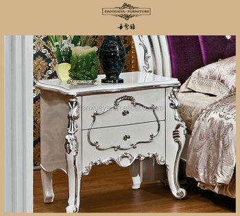 Franse stijl houten nachtkastje witte bruiloft romantische ontwerpen buy product on - Romantische witte bed ...
