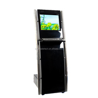 Information kiosk with SAW touchscreen and metal keyboard