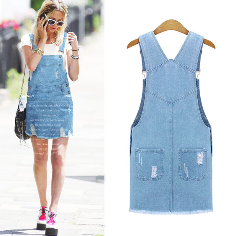 7b209a3cb2d Buy Cute Lady Womens Washed Casual Blue Denim Overall Denim Skirt Jumper  Dress Skater Jean Skirt PLUS SIZE XL-5XL Free Shipping in Cheap Price on  Alibaba. ...