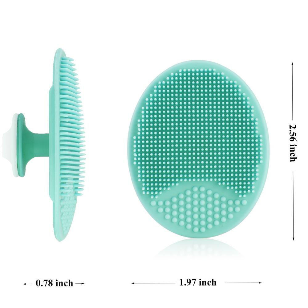1PC Facial Cleaning Pad and 1PC Nasal Washing Brush Silicone Facial Cleansing Brush