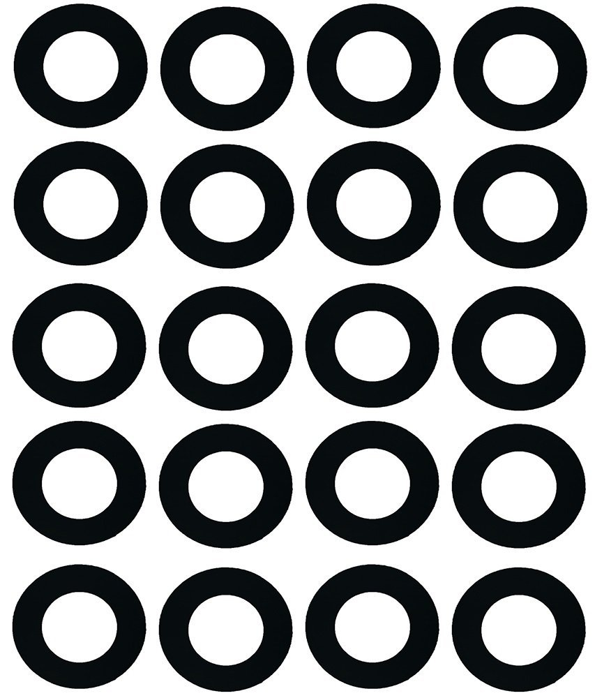 """Sterling Seal CRG7000.1200.031.150X20 7000 Grafoil Ring Gasket 12"""" Pipe Size, 1/32"""" Thick, Pressure Class 150#, 0.62"""" Height, 16.13"""" Length, Expanded Flexible Graphite, Black (Pack of 20)"""