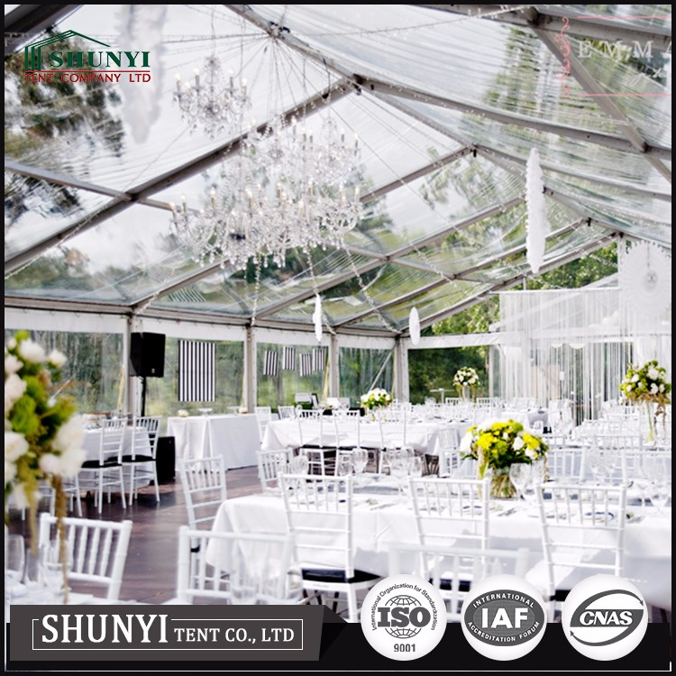 Clear PVC party event wedding tent
