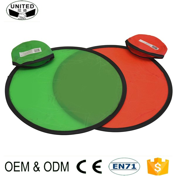 2017 cheap Custom Fabric Nylon Foldable Frisbee with free sample
