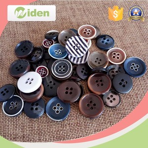 Fancy Buttons Hole Corozo Screw Back Buttons