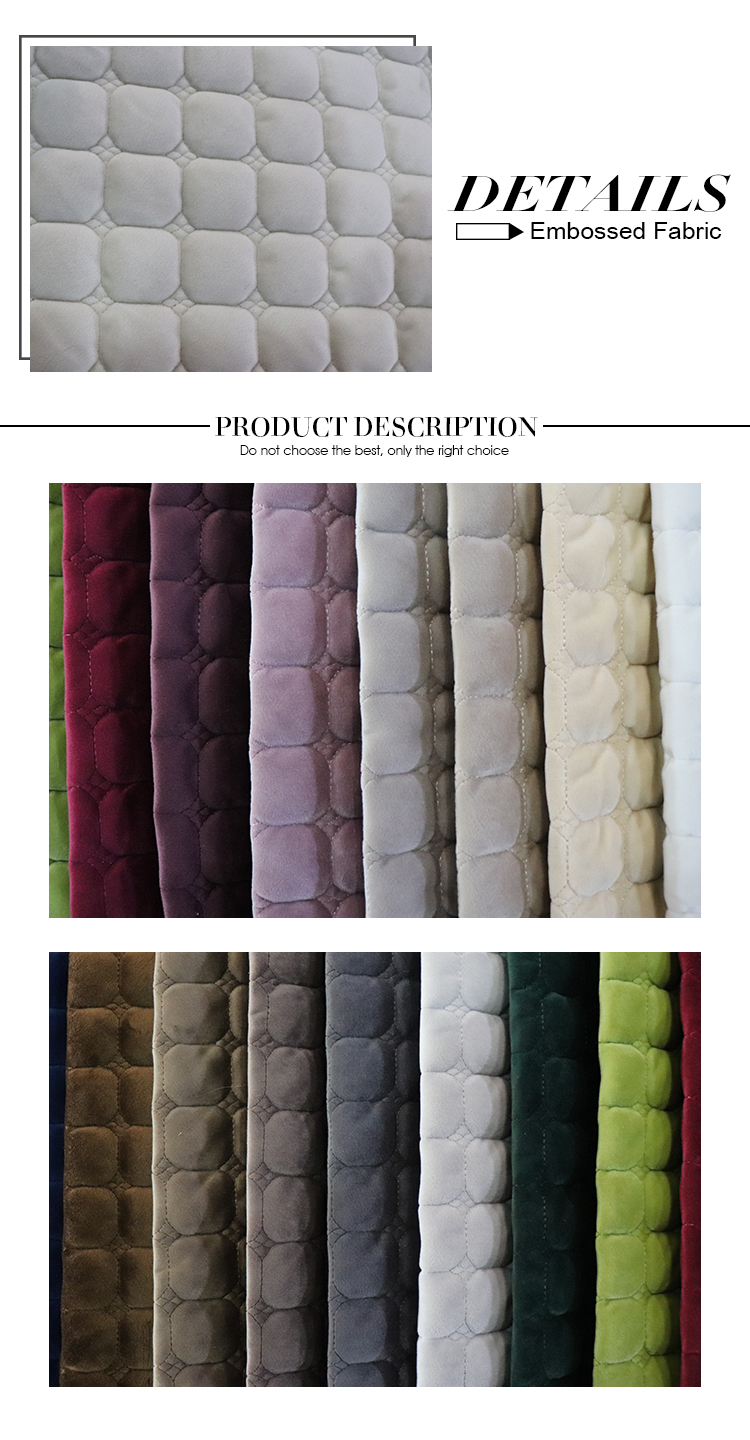 Best Choose price per meter of polyester embroidery sofa fabric