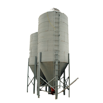 Poultry galvanized chicken storage feed silo for sale