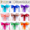 Various colorful cheap party organza Christmas chair sashes