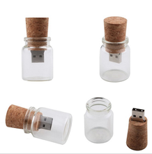 Creative design Wooden messenger bottle usb flash drive