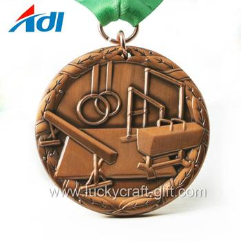 China manufacturer custom gymnastics sports gold medal