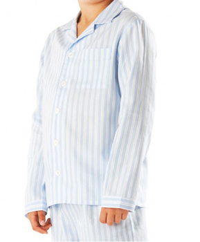 bbffa3249c54 Boys Traditional Blue   White Striped Pyjamas - Buy Mens Striped ...