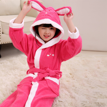 c8e86e3c25 Wholesale Cute cartoon children baby hooded bathrobe for kids girls boys  cotton terry bath robes
