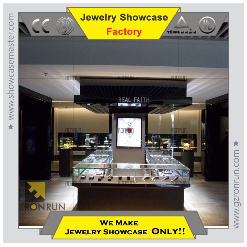 Display showcase for eye glasses and jewelry shop decoration interior designs