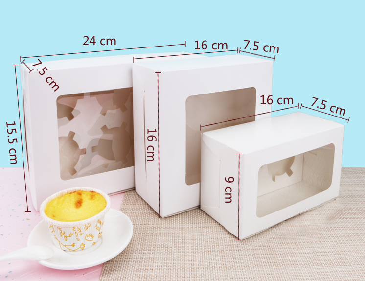 Populaire Kartonnen Clear Window Papier Candy Cake Verpakking Box