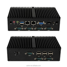 Qotom Mini Pc Q190X Intel J1900 Quad Core barebone 7COM 2 Lan Fanless POS Computer IPC