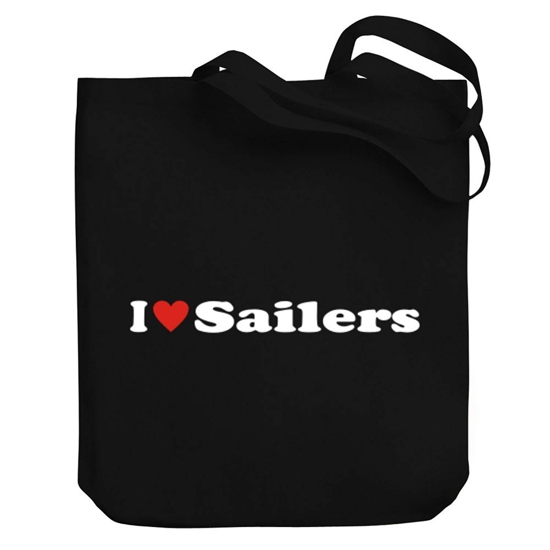 Teeburon I love Sailers Canvas Tote Bag