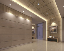 High Density Hotel Decorative Wall Panel Wood Wool Acoustic Panel