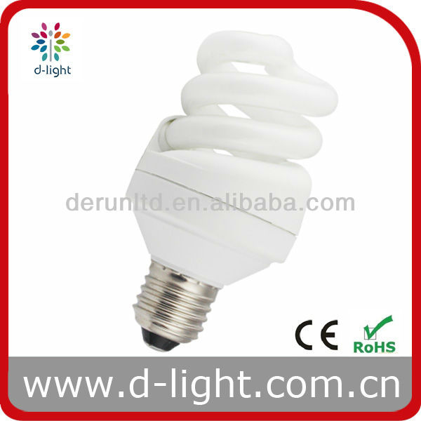 Standard ESL 15W T4 Full Spiral Light Bulb -8000/10000hrs