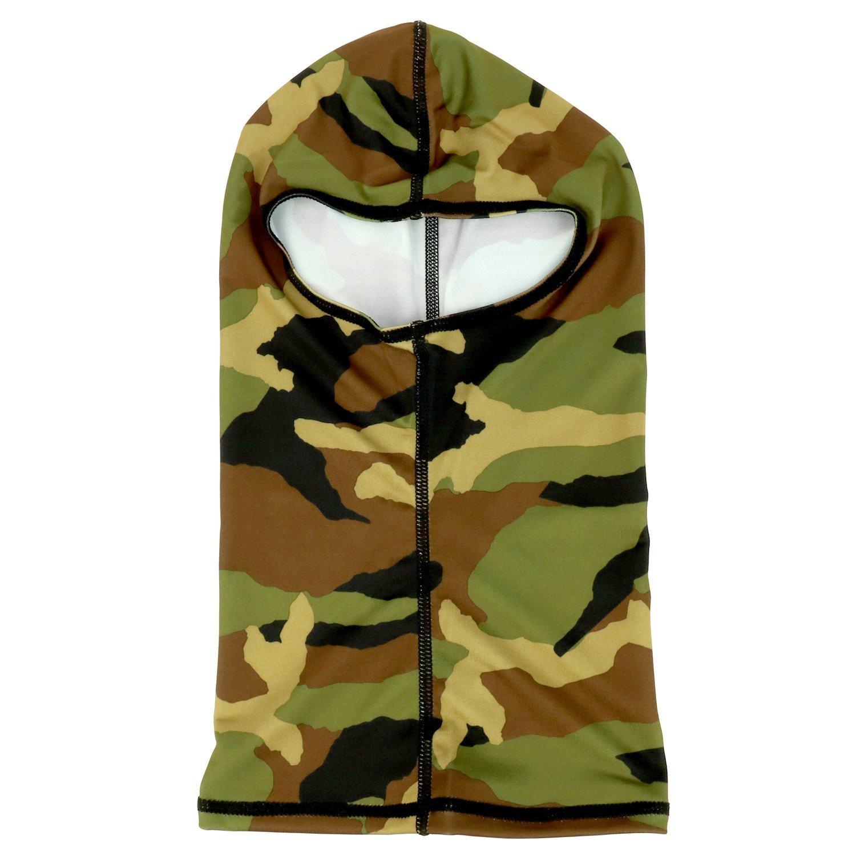 Armycrew Woodland Camouflage Pattern Nylon Balaclava Neck Gaiter