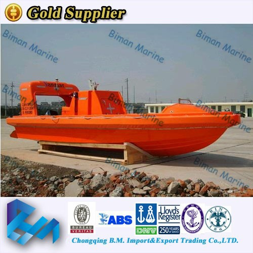 Lifesaving Offshore DNV Aluminum Water Rescue Boat For 9 Persons