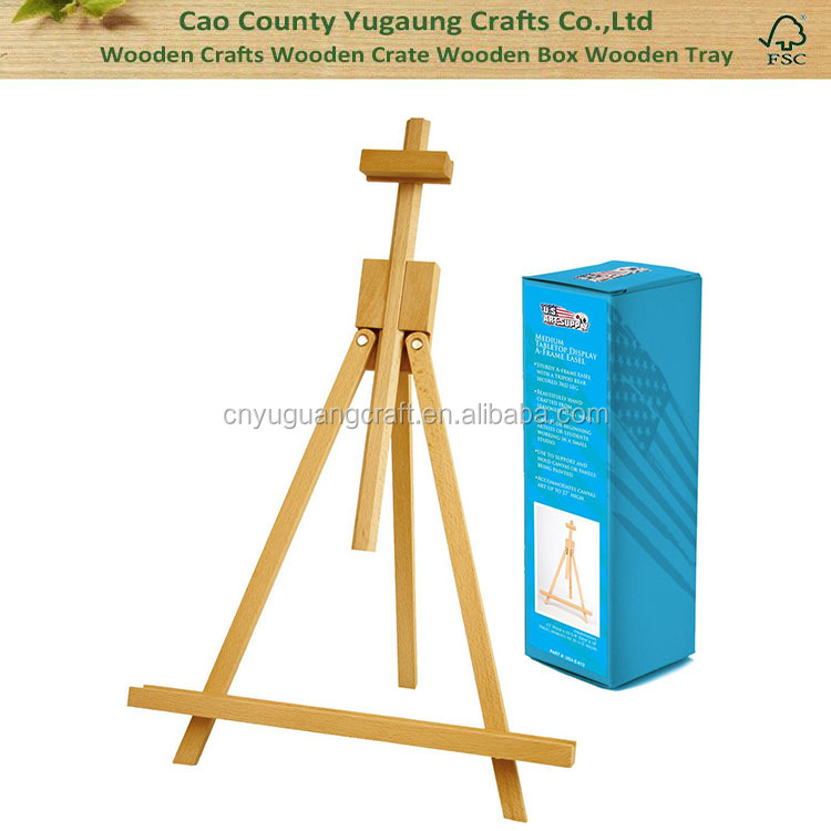 High Quality Medium Portable Wood Travel A-Frame Artist Easel Wooden Children Kids Tabletop Easel