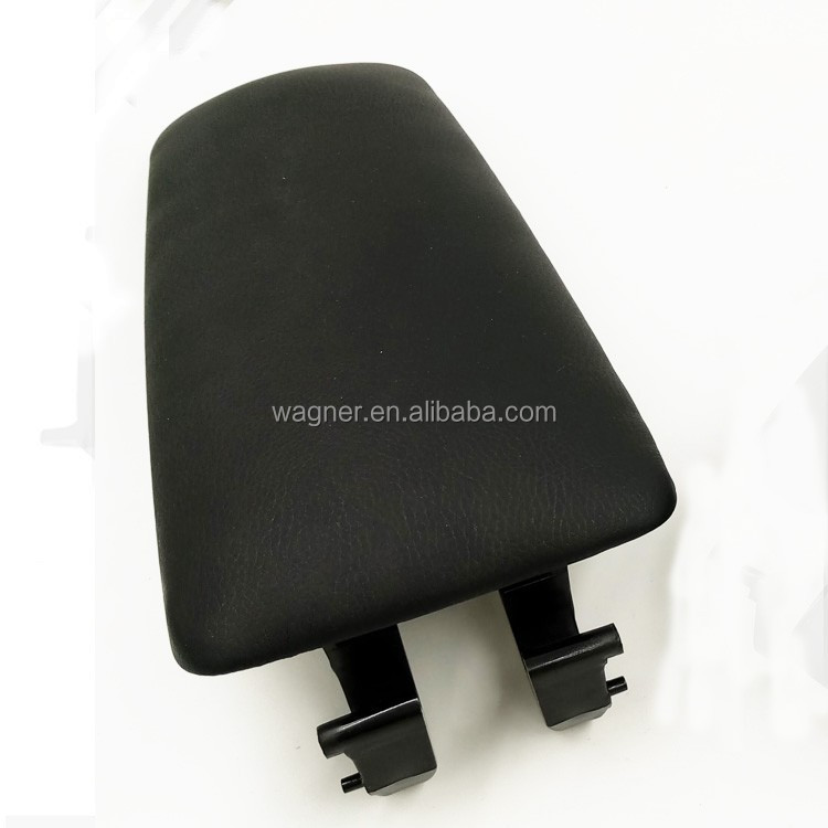 Black Leather Car Accessories Armrest Console Lid Cover For Audi A4 B6 2004-2008