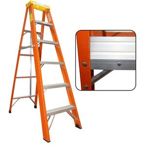 4 Tread Heavy Duty Fibreglass Step Ladder Electricians GRP Step Ladder 30000v