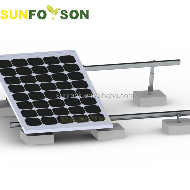 Easy installation flat roof engine solar mounting bracket