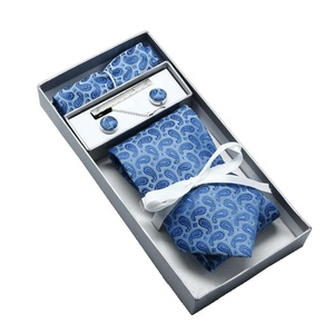 Natural Mens Tie and Cuff links Gift Tie Set