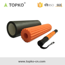 TOPKO 18 Inch Foam Exercise Roller with High Density Foam and Deep Tissue Massage Stick Foam Roller
