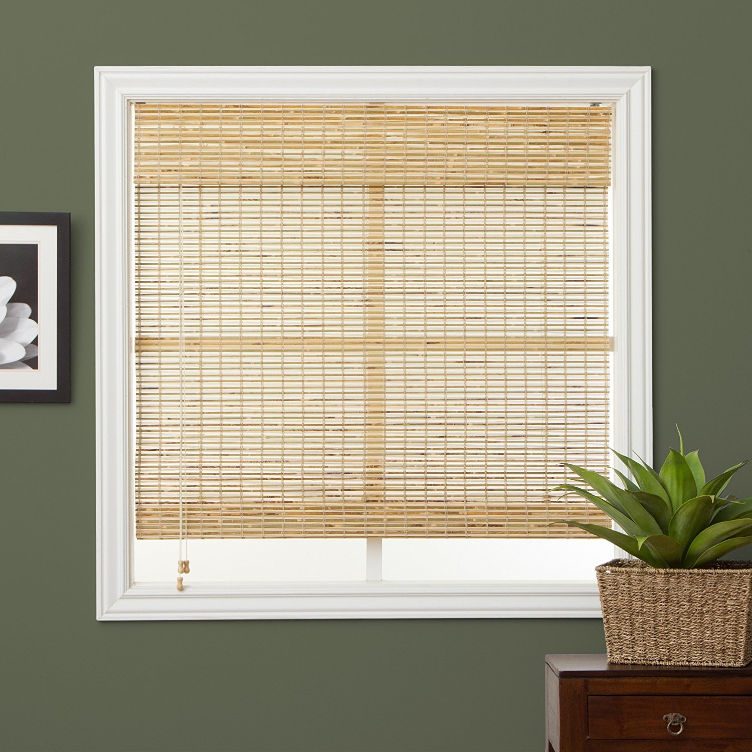 up design lowes brown matchstick stunning bamboo stained discount unique square blinds shades roll and