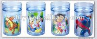 Double wall cup ( winnie, mickey,dora, spiderman)