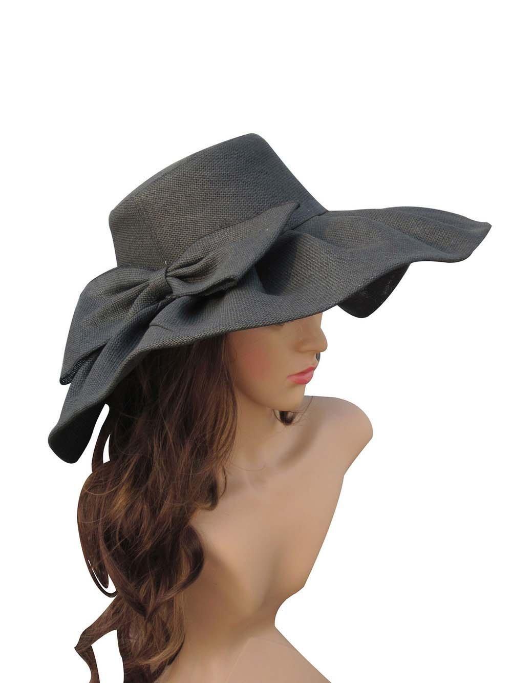 db9557e1a7087 Get Quotations · LOVEHATS Summer Hat Women Wide Brim Sun Hat Wedding Church  Sea Beach Hats Floppy Ladies Hat