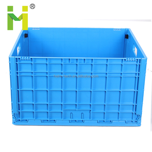 plastic collapsing folding storage crate for milk