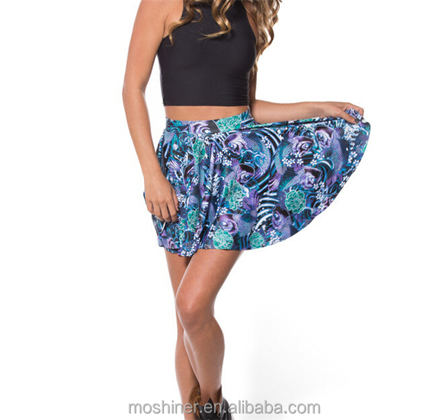 latest skirt design picture,Wholesale Women Leopard Digital Printing Puff Skirt Above Knee Plus Size ,tutu skirt