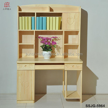 Kids Room Modern Mdf Bookcase With Study Table Buy