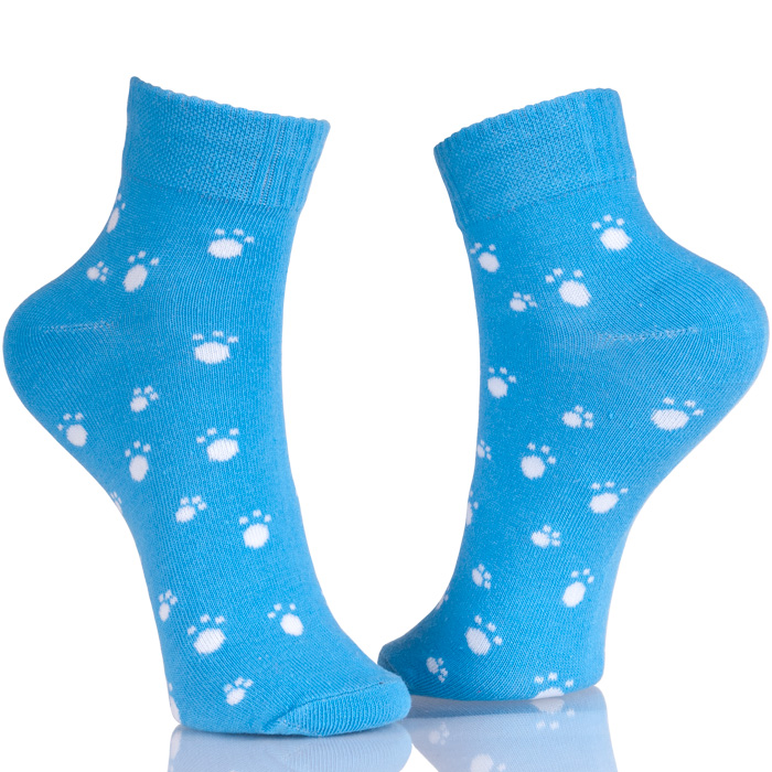 Cute Animal Dog Paw Printed Socks