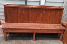 wood garden bench with flower box