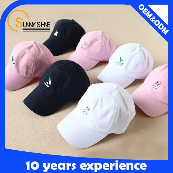 Wholesale cheap 6 panel unstructured baseball cap leather strap