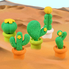 New Cactus Erasers Novelty Cartoon Simulation cacti Mini Eraser Rubber school Office accessories and Study Eraser/kids Gift 737