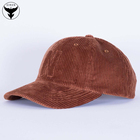 Corduroy 6 Panel Curved Performance Hat Logo Maker
